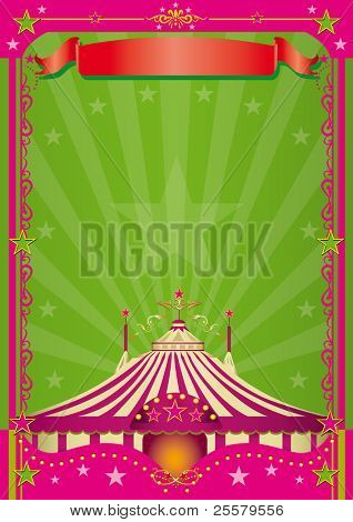 Pink Circus A circus background with a large copy space for your message.