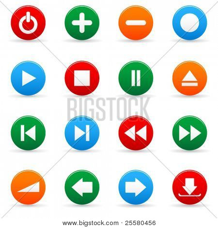 Vector media icon set for web applications