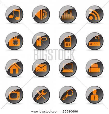 Vector glossy icon (set 1)