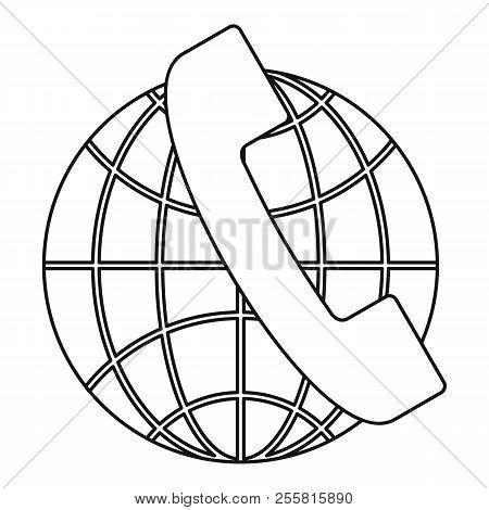 Global Communications Icon. Outline Illustration Of Global Communications Icon For Web