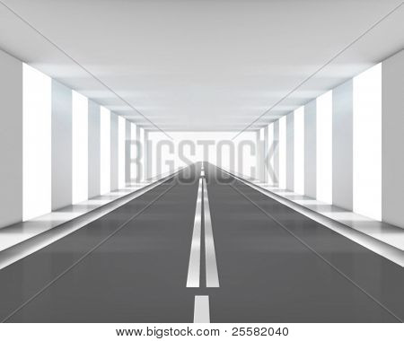 Highway. Vector illustration.