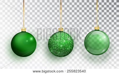 Green Christmas Tree Toy Set Isolated On A Transparent Background Stocking Decorations V