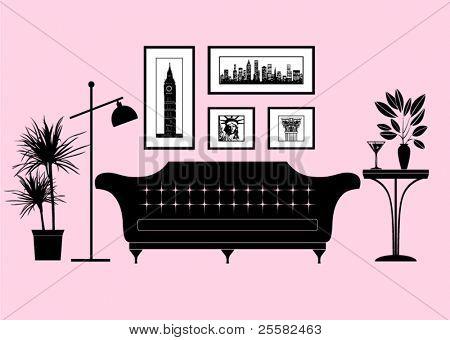City living - part of a modern living room