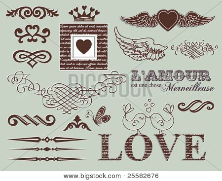 Diseño de elementos - día de San Valentín