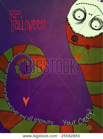Ghoulishly Yours Forever and Ever, Halloween Greeting Card