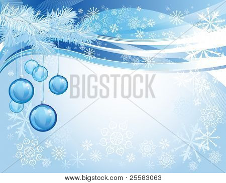 Blue glass christmas balls