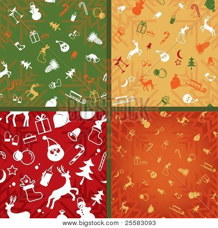 christmas  decorative pattern of endless plane