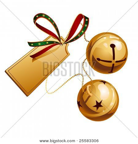 Two ringing shine bells with card
