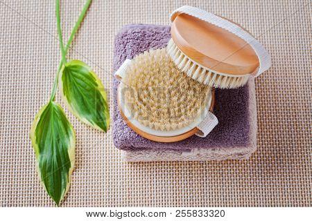 brush for dry body massage - beauty treatment