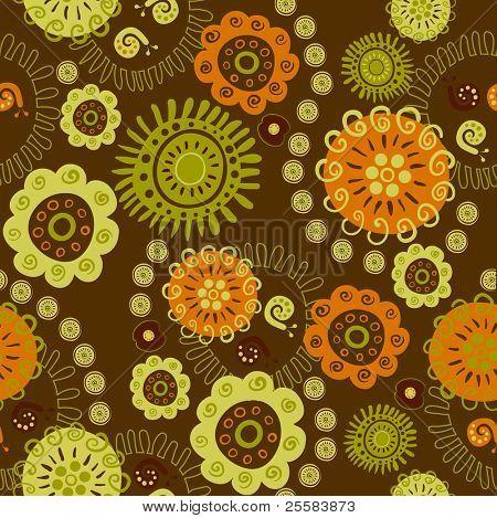Dekoratif çiçek ve salyangoz sorunsuz süsleme