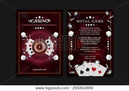 Casino Background Poster, Flyer, Vip Invitation Poker Game. Casino Poster Or Banner Background Or Fl