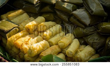 Indonesian Food Known As Risoles In Traditional Market In Pekalongan Central Java