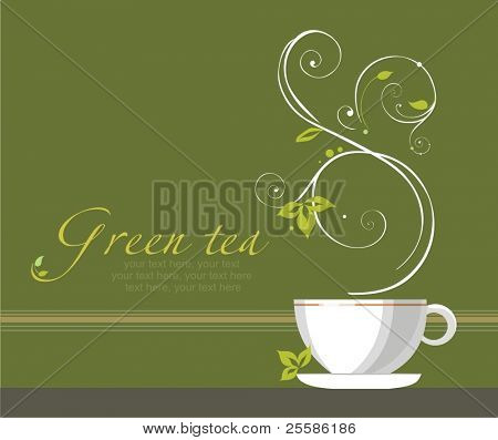vector tea background