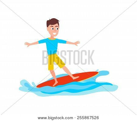 Surfing Sport Activity And Boy With Unsure Look And Smile On Face, Surfboard, Summer Sport And Boy V