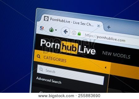 Ryazan, Russia - August 26, 2018: Homepage Of Porn Hub Live Website On The Display Of Pc, Url - Porn
