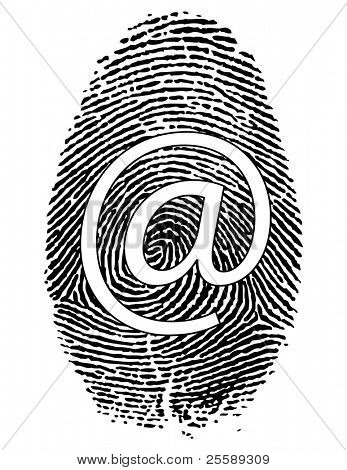 Raster Fingerprint with symbol