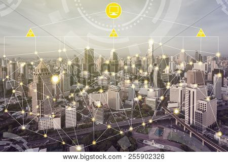 Smart City And Wireless Communication Network.