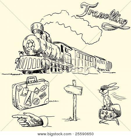 travel doodles