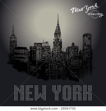 new york-original drawing