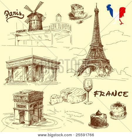 france-original hand drawn collection