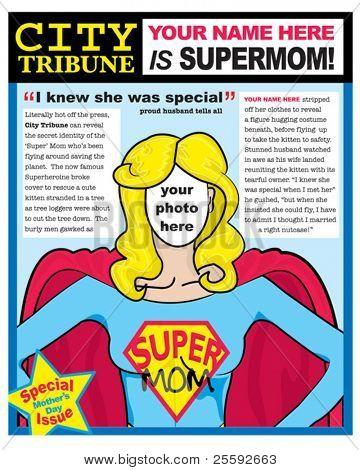 Crie sua própria diversão exclusivo cartão de dia das mães.  Quer cortar o rosto e substituir por uma Macla suzana de foto