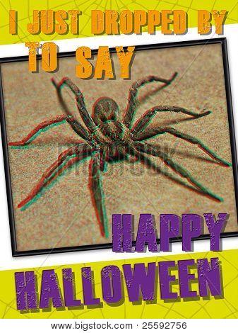 3-d Halloween Spinne Grußkarte. ausdrucken und senden an diejenigen, die nicht Spinnen mögen!