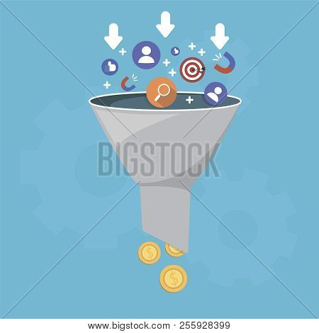 Sales Funnel And Lead Generation, Monetization Of Sales Process, Purchase Funnel, Is The Visual Repr