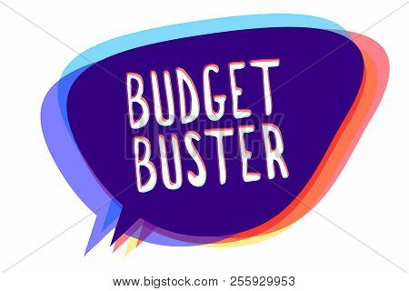 Conceptual Hand Writing Showing Budget Buster. Business Photo Text Carefree Spending Bargains Unnece