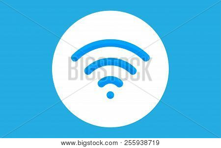 Wifi Technology Symbol. Wireless And Wifi Icon. Sign For Remote Internet Access. Podcast Vector Symb