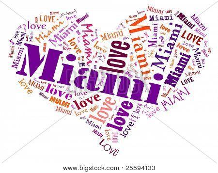 Love heart of  Miami