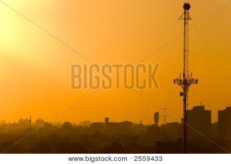 Antenna At Sunset (Imgp0912)