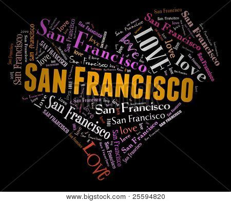Wordcloud: love heart of city San Francisco