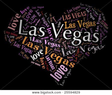 Wordcloud: love heart of city Las Vegas