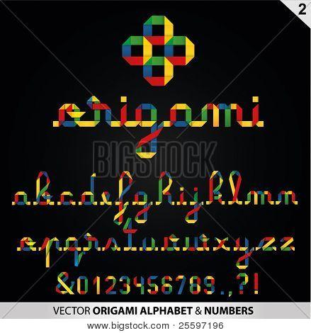 Handwritten origami Alphabet
