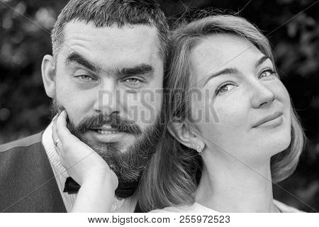 Bride And Groom Smiling Different Mood