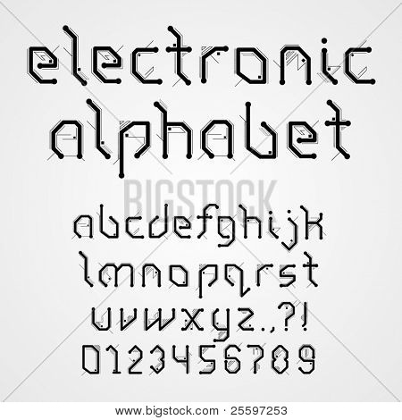 Electronic Alphabet With Numerals