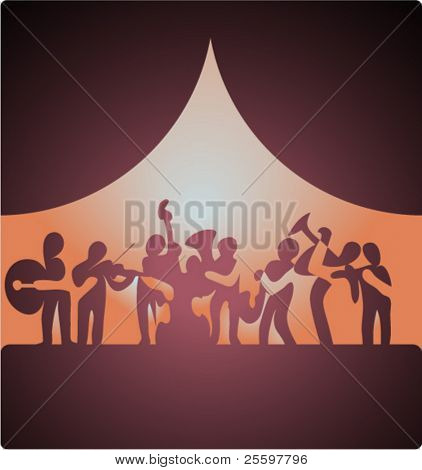 silly musicians silhouettes