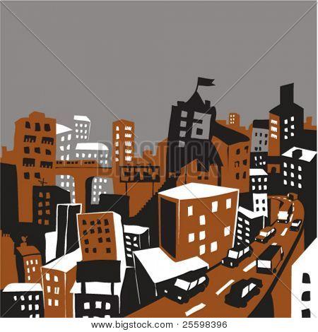 metropolitan city illustration