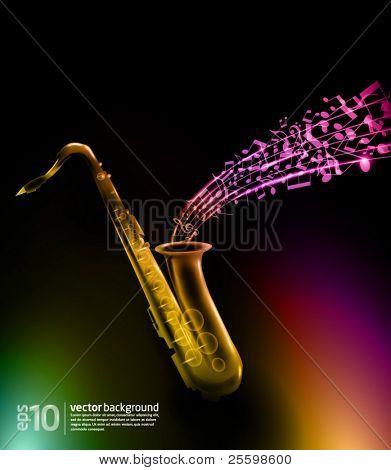 music background - vector saxophone