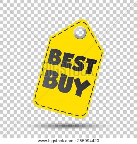 Best Buy Hang Tag. Vector Illustration . Business Abstract Pictogram.