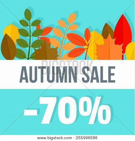 Big Autumn Final Sale Background. Flat Illustration Of Big Autumn Final Sale Background For Web Desi