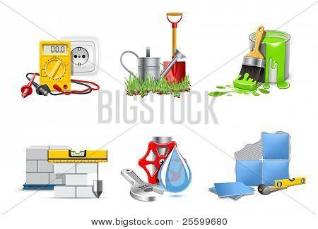 Renovation service. Icons   Bella series