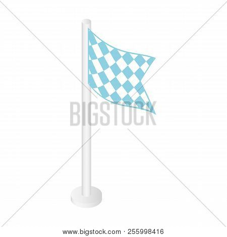 Flag of bbq fest icon. Isometric of flag of bbq fest icon for web design isolated on white background poster