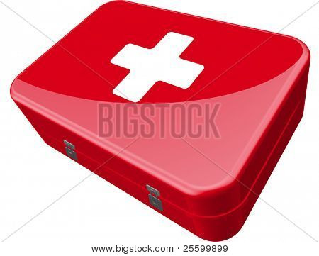 red first aid kit