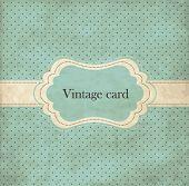 Polka dot design, blue vintage frame poster