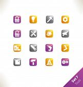 Vector beautiful icon set. Part 7 - Tools poster