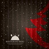 Vector. Special Christmas restaurant menu poster