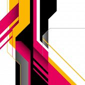 Futuristic layout with designed shapes. Vector illustration. poster