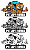 Pet Approved Seal Set / Mark poster