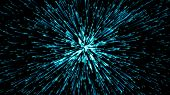Hyper jump. Abstract geometric background. Circular geometric pattern. Starburst dynamic lines. poster